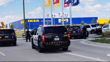 suspect dead after shootout with grand prairie pd outside ikea. Black Bedroom Furniture Sets. Home Design Ideas