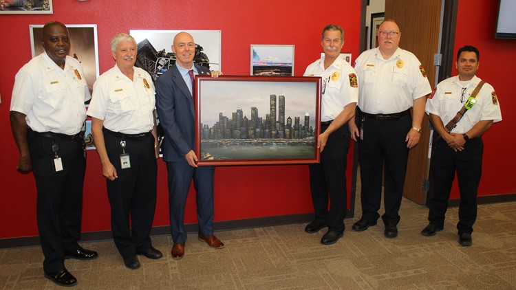 Remembering 9/11: Why a 20-year-old NYC skyline portrait is so meaningful in McKinney