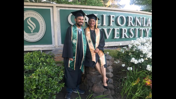 61 Year Old Mother Of Four Graduates College With Youngest Son
