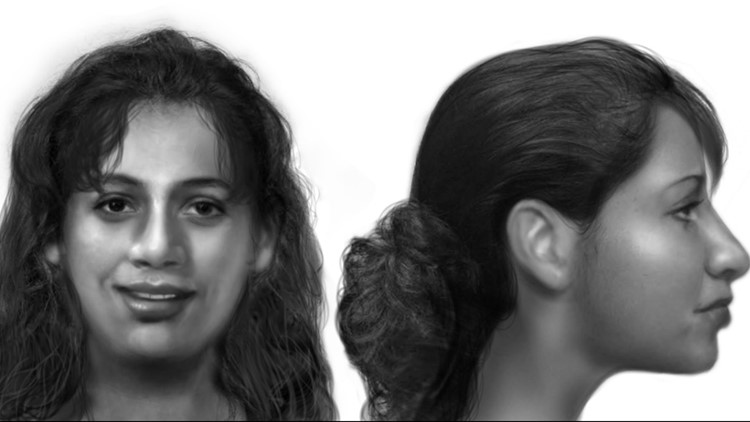 Police sent out information about the cold case Wednesday, along with several pictures of what the woman might have looked like, based on DNA and facial reconstruction.
