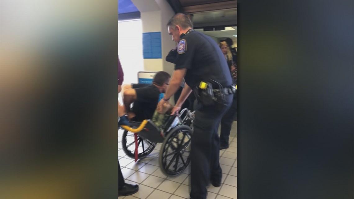 Video Disruptive Passenger Handcuffed To Wheelchair