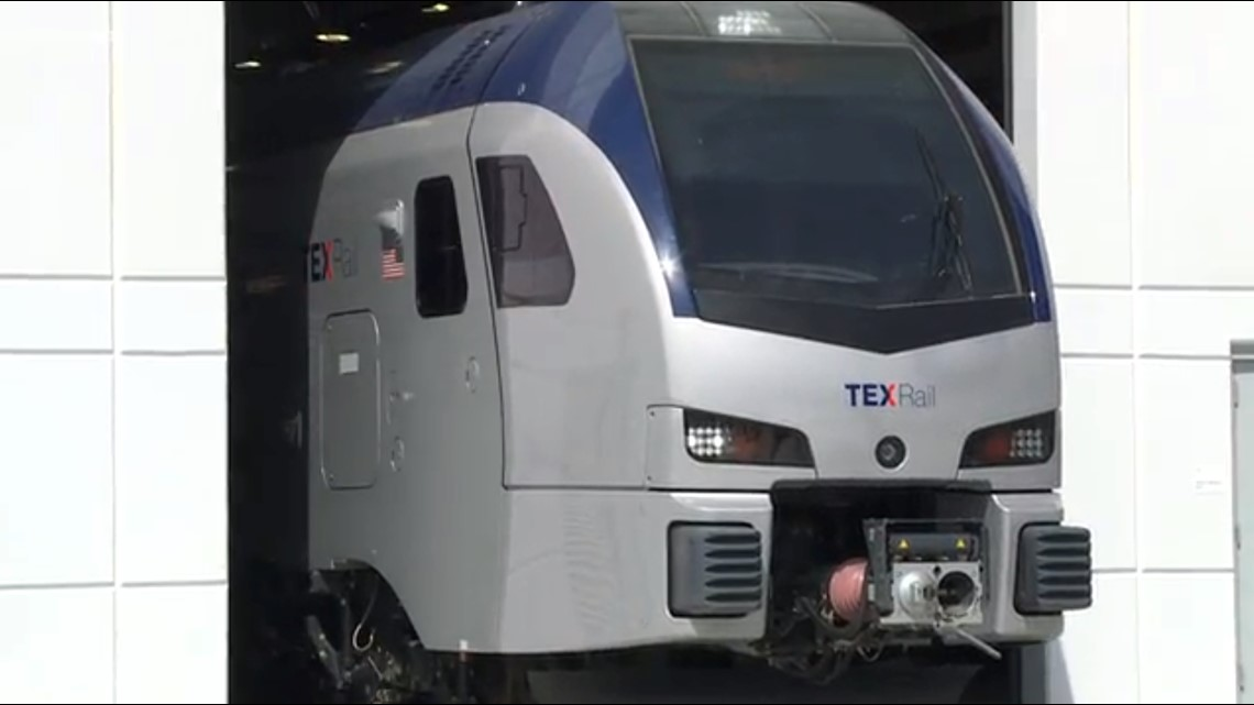 TEXRail's Train Debuts At New Facility In Fort Worth