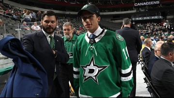 Stars draftee's dad missed his kid being picked because he was in the bathroom