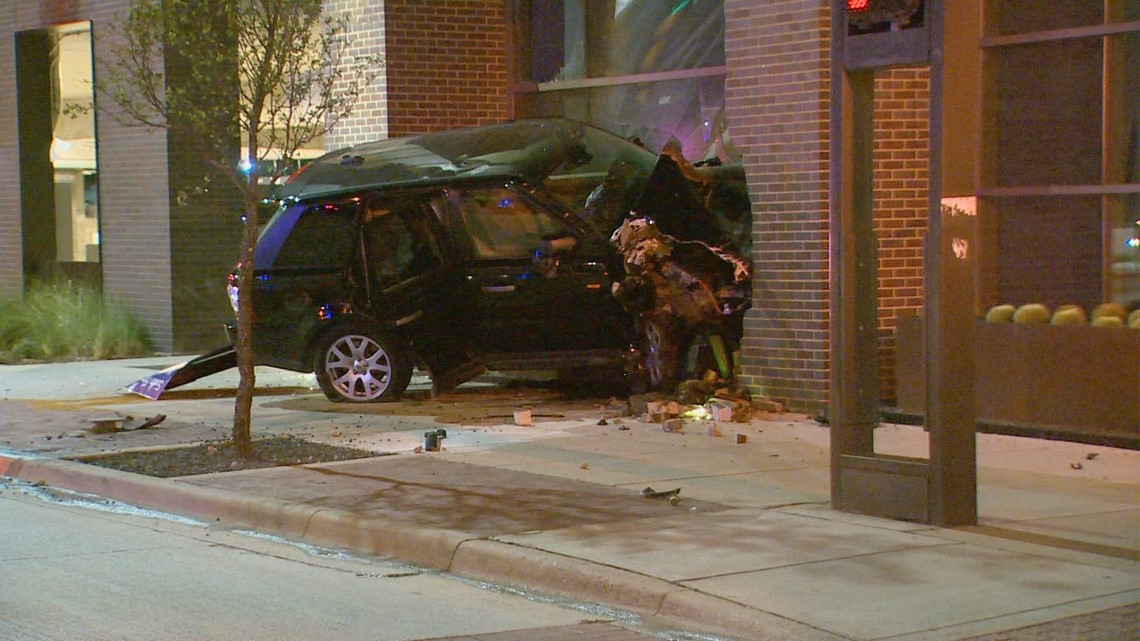 Driver rescued after SUV crashes into Dallas building | wfaa com