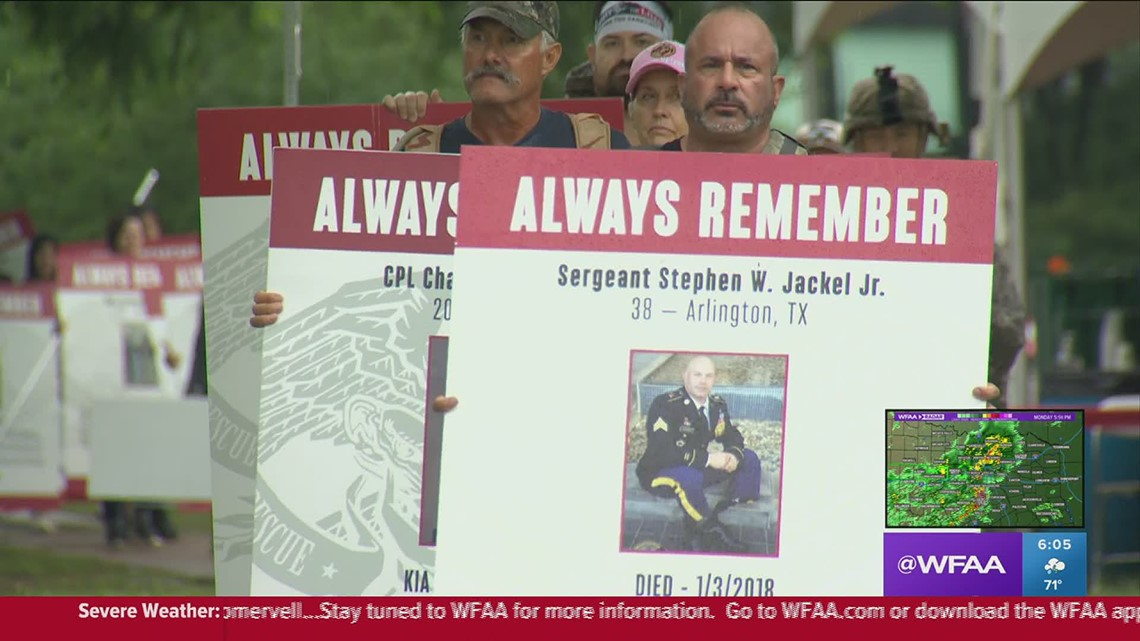 Rain can't dampen the purpose of Carry The Load memorial march