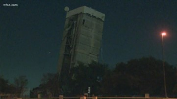 Leaning Tower of Dallas still stands more than 12 hours after scheduled implosion