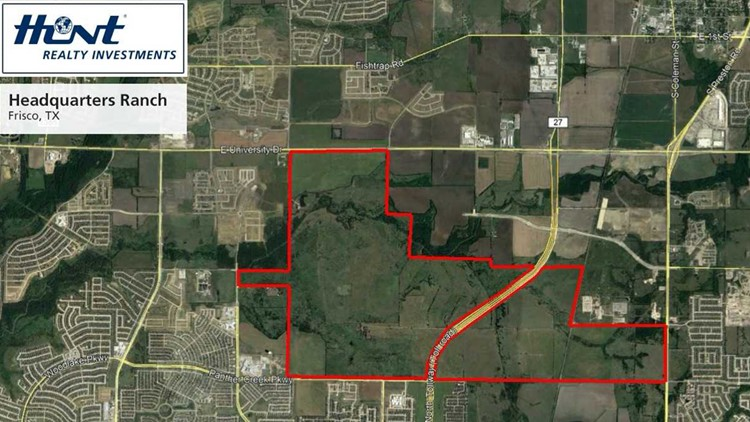 The 2,544 acre site is on Frisco's northern edge has significant frontage along the Dallas North Tollway, Preston Road and Highway 380.