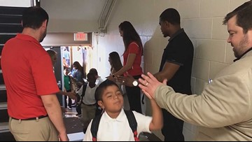Crowds of community members welcomed kids on first day at some southern Dallas schools
