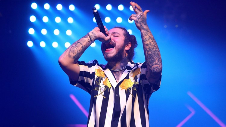 A plane reportedly carrying Grapevine native and rapper Post Malone landed safely after blowing two tires on takeoff