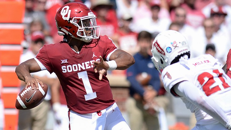 4ab8c15b6 Kyler Murray goes Allen 2014 on Lane Kiffin and Florida Atlantic. The new Oklahoma  Sooners ...