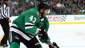 A Stars player borrowed a fan's replica jersey mid-game