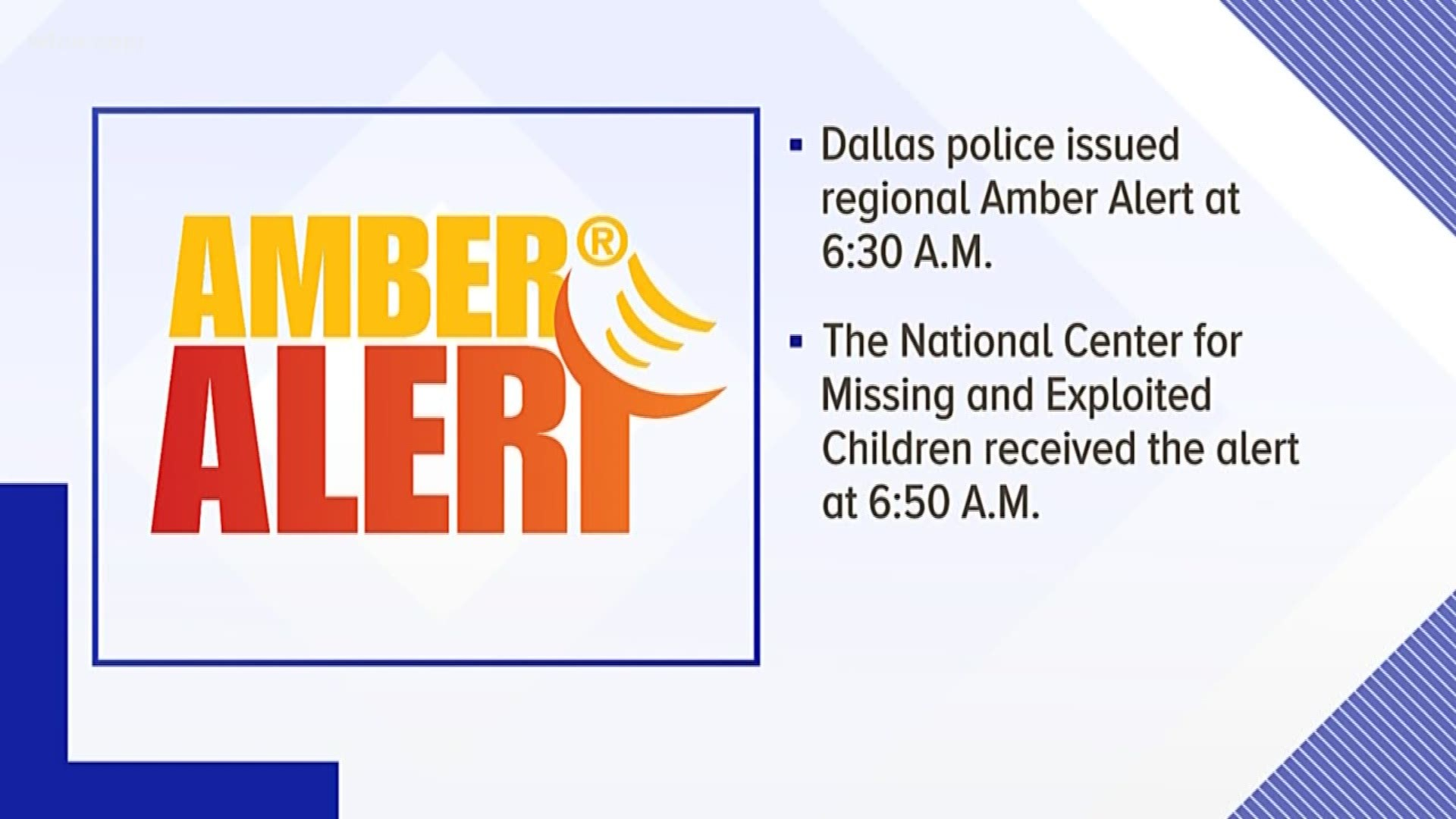 2 Missing Children Found Alive After Amber Alert Issued In Dallas Police Say Wfaa Com
