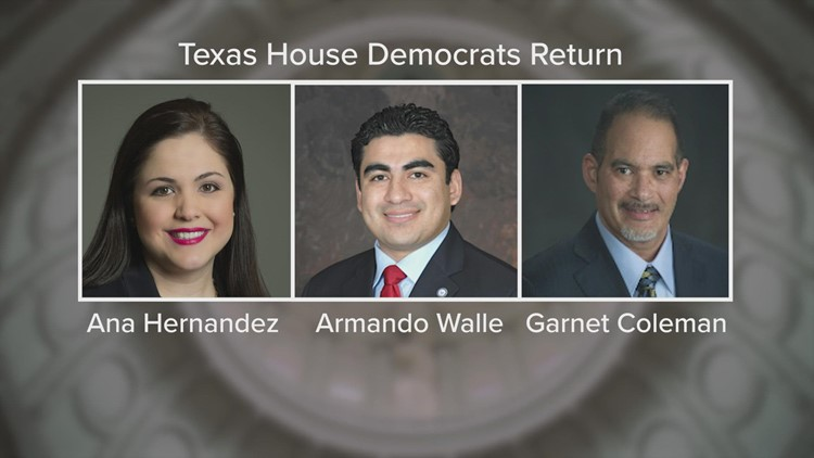 Texas House reaches quorum after 3 Democrats return, will get back to work in special session