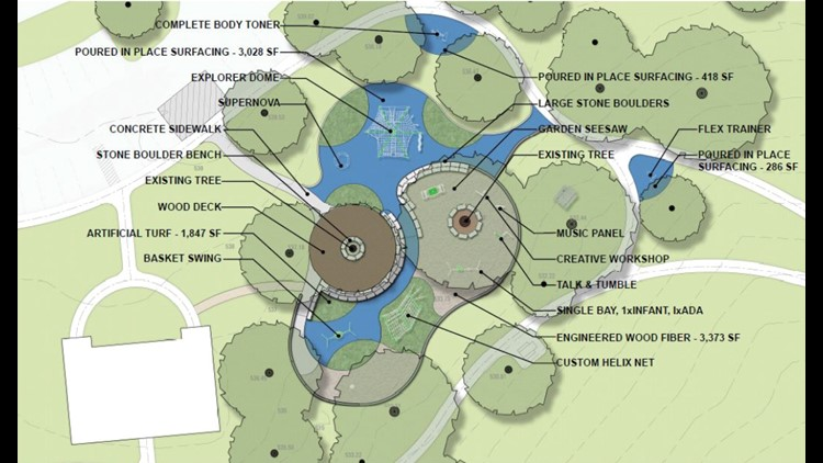 """All-ability"" proposed playground plans at Flag Pole Hill."