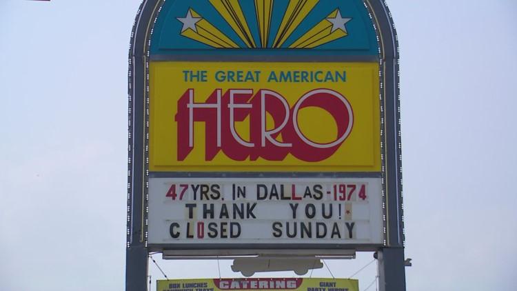 A Dallas food landmark since 1974, Great American Hero sandwich shop closing its doors as owner retires