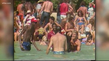 Daybreak Rewind: 35 years ago, beach party held outside Dallas City Hall