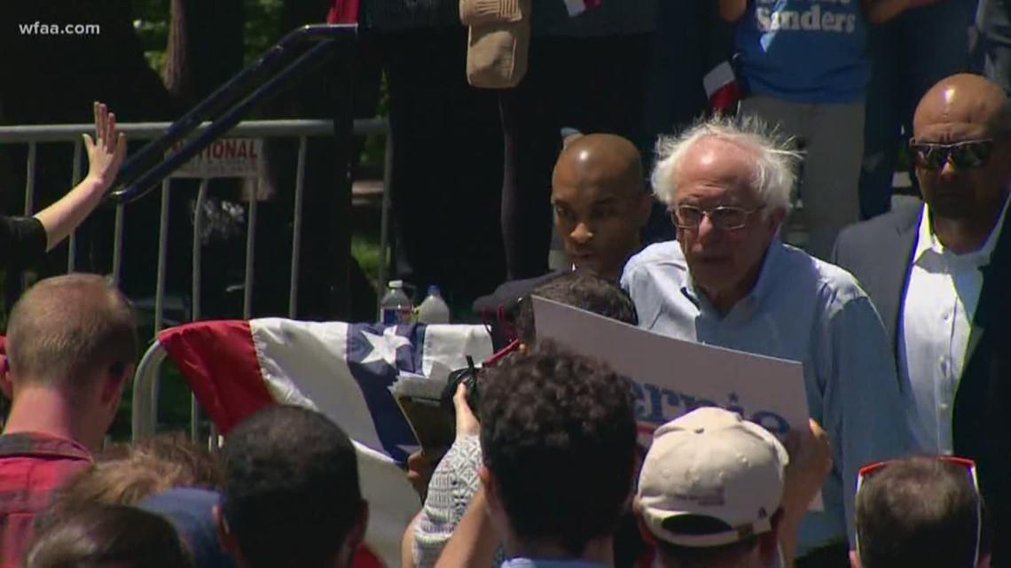 Hours after Joe Biden announces for president, Bernie Sanders stumps in Fort Worth
