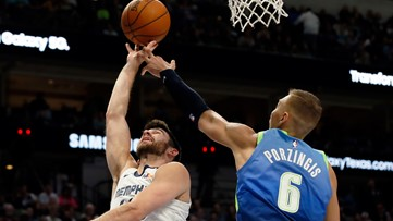'It's ridiculous': Porzingis stays hot, leads dinged-up Mavericks past Ja Morant and the Grizzlies