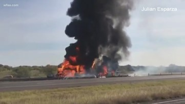 3 killed in multi-vehicle crash involving an 18-wheeler