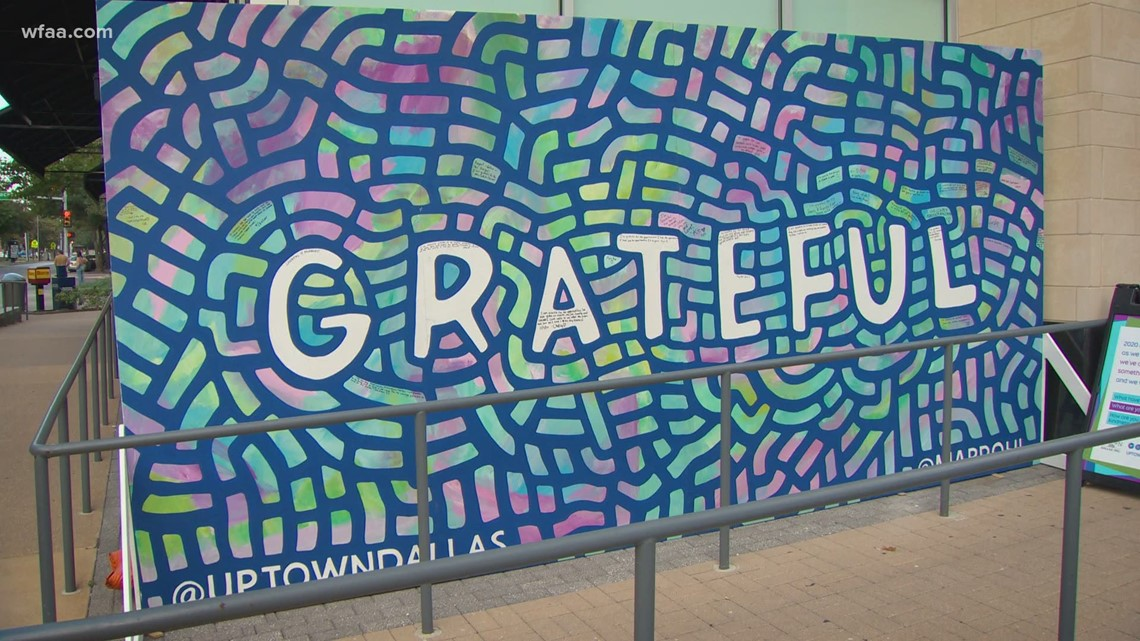 New mural in Uptown Dallas highlights your messages of gratitude and kindness