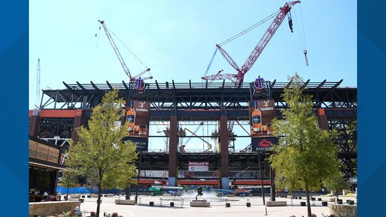 Progress report: Inside the Texas Rangers' new ballpark