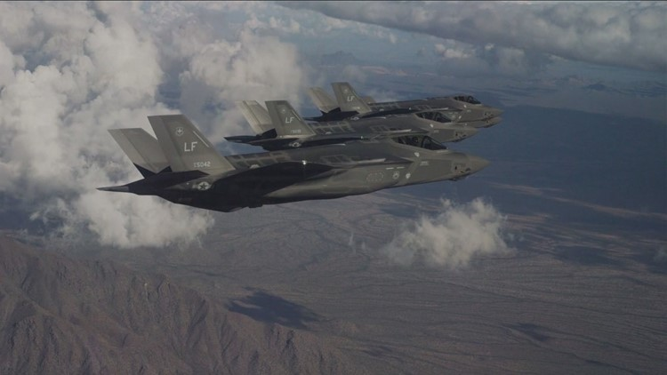 Hear that distinctive sound and you may not believe the F-35 fighter jet is known for it's ability to go undetected.