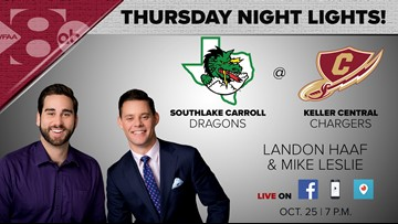 Replay: Southlake Carroll 49, Keller Central 14 on Thursday Night Lights
