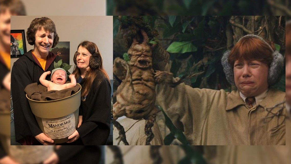 It S A Crying Mandrake Frisco Family S Harry Potter Costume Pic