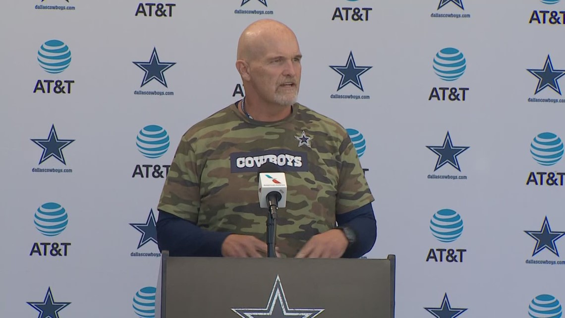 Dan Quinn uses unorthodox method for note-taking during Cowboys training camp