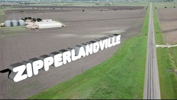 Welcome to Zipperlandville, Texas! How'd it get a name like that?