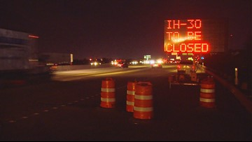 I-30 in Arlington and Grand Prairie to be closed all weekend