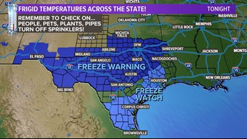 DFW weather: No snow, but the freezing temps are here