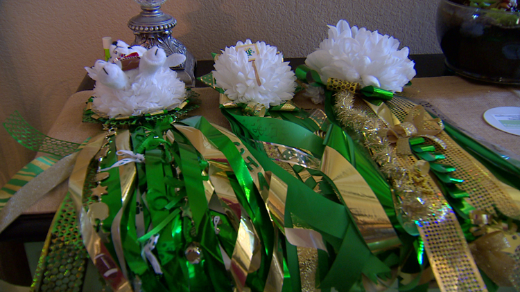 A group in Frisco is making mums and garters for students with special needs