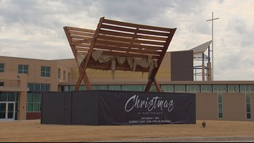 Super-sized manger on display at North Texas church