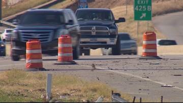 Drivers urge caution around shifting lane patterns near I-35E South construction zone