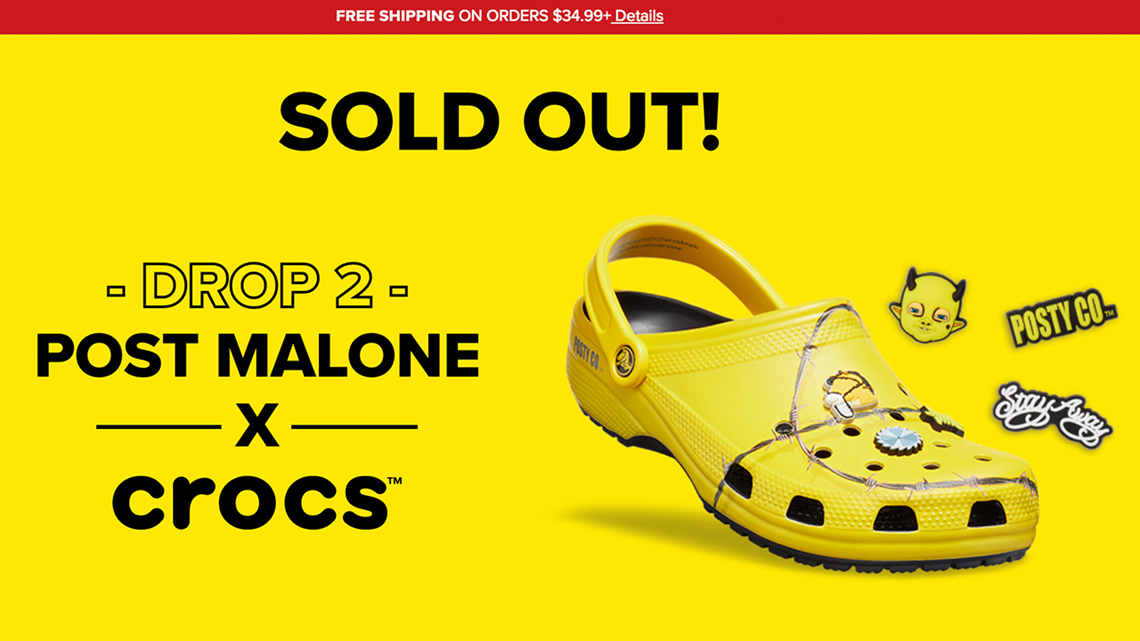 a6d640e50f5d Would you pay  60 for Post Malone Crocs  A lot of people did