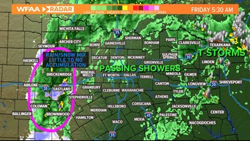 DFW WEATHER BLOG: The wintry mix leaves us; passing showers Friday