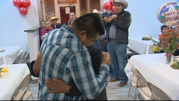 Families separated by border reunited for Christmas in Cleburne