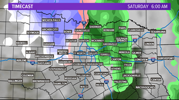 Could North Texas see snow this weekend?