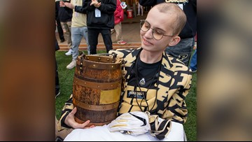 Purdue super fan who inspired with fight against cancer dies