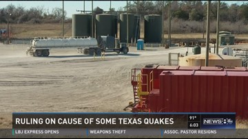 Ruling on cause of some Texas quakes