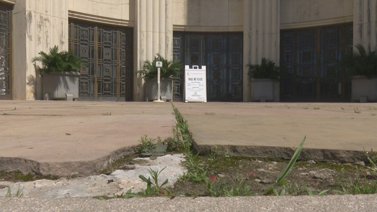 Many of the buildings and sidewalks in Fair Park have seen better days.