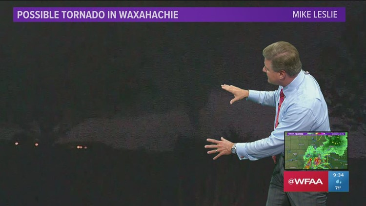 VIDEO: WFAA's cameras capture possible tornado near Waxahachie