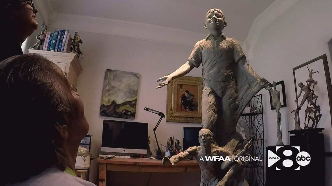 Mom of 12-year-old Santos Rodriguez, killed in police custody, reacts to statue created in his honor