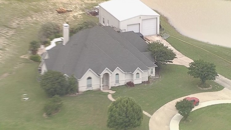 Aerial photos of home invasion