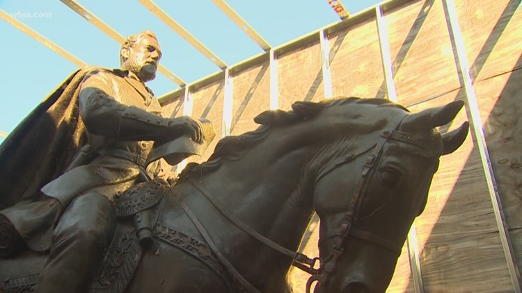 Controversial Robert E. Lee statue removed from Dallas has new home in Lajitas, TX