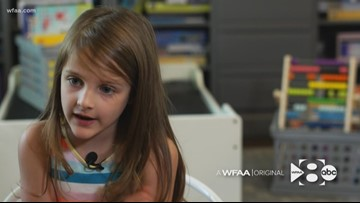 WFAA Original: This 6-year-old girl started a charity to help refugee children