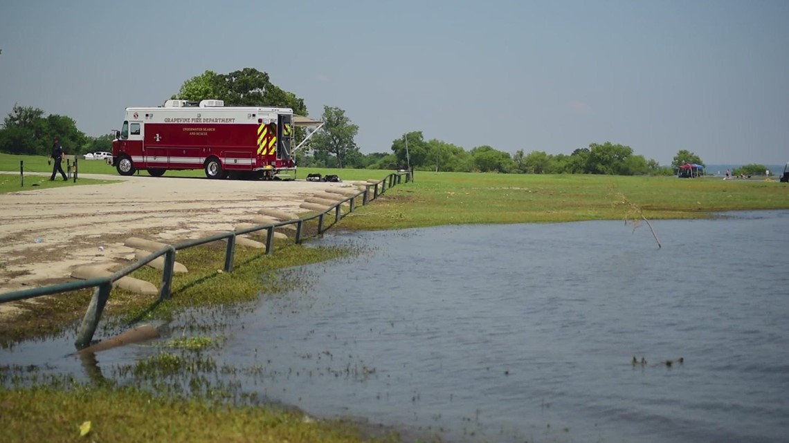 Officials urge swimmers wear life jackets amid high levels at Grapevine Lake, following drowning