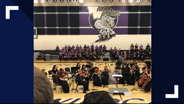 'Remember Me': Orchestra's surprise song brings middle school directors to tears