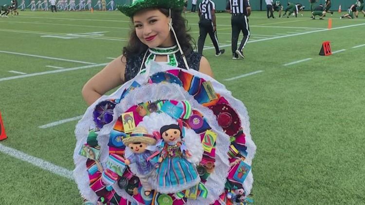 Arlington ISD senior honors Mexican heritage with creative homecoming mum